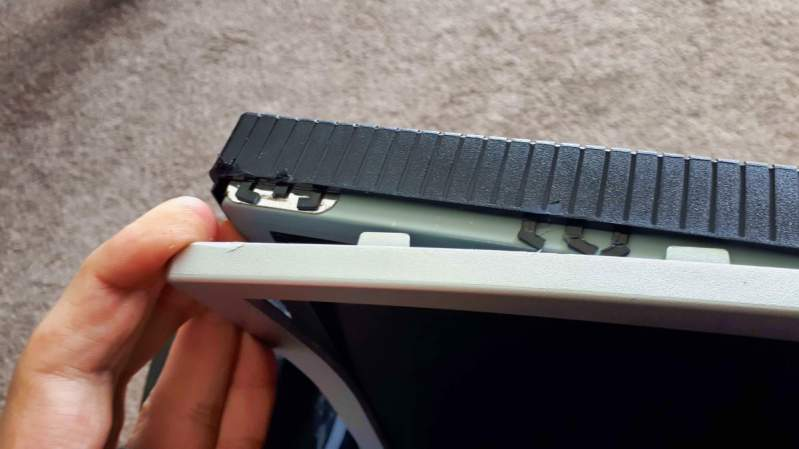 Monitor casing tabs