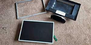 Remove monitor bezel