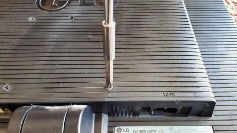 Remove monitor screws